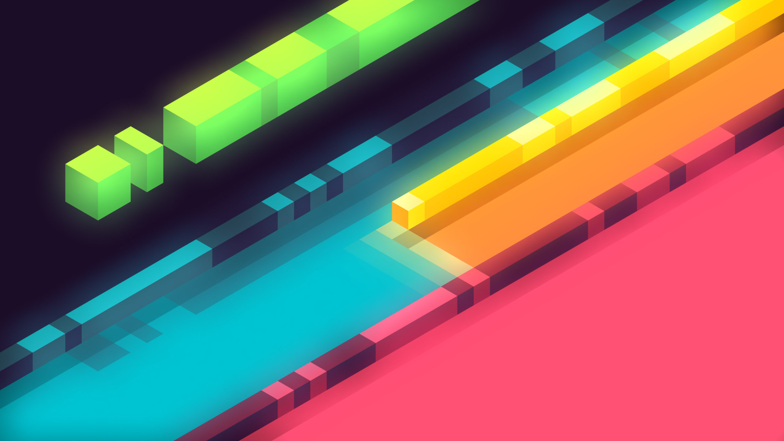 3d Abstract Colorful Shapes Minimalist 5k Zr Wallpaper