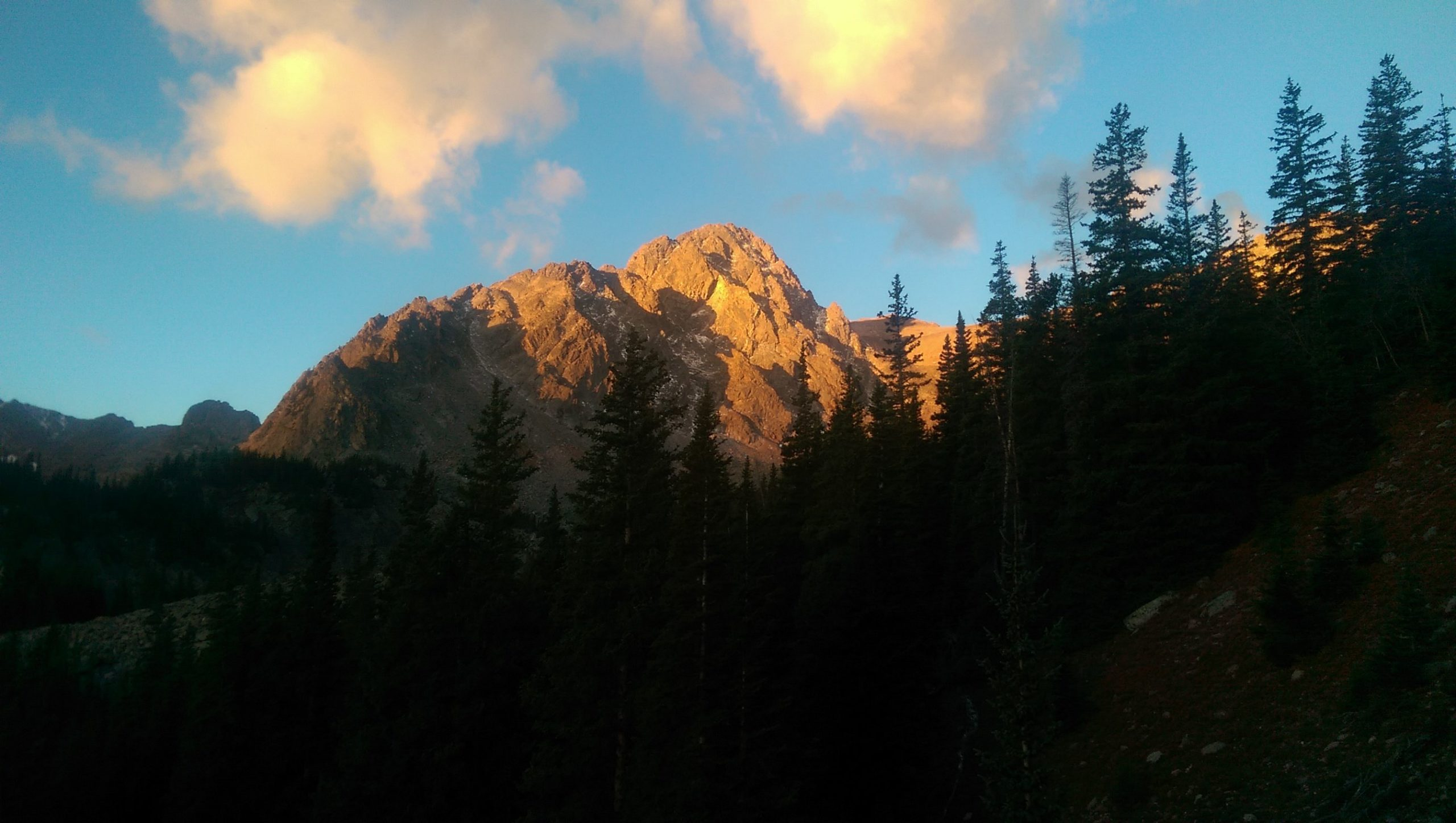 Download Alpenglow On Mt Silverthorne At Sunrisesummit County Co