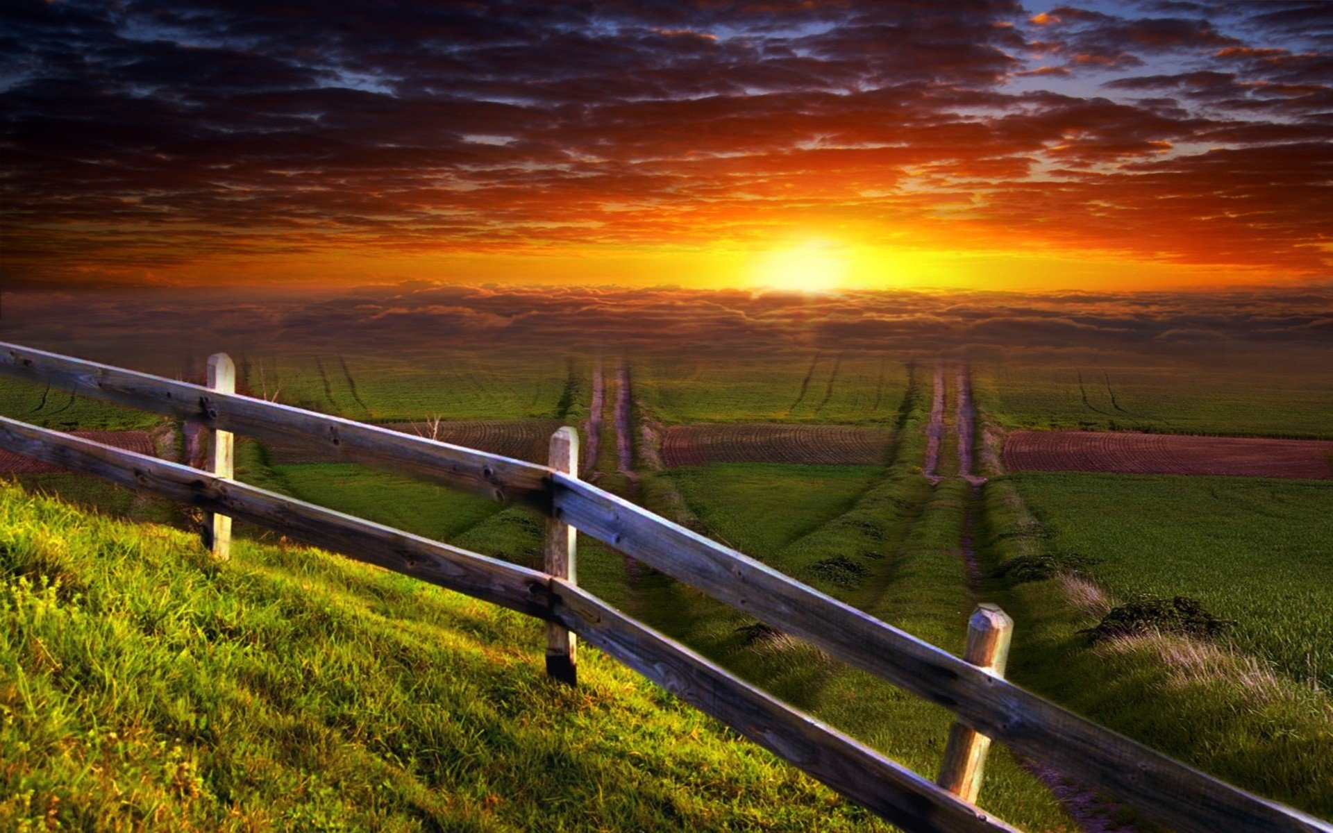 Download Amazing Sunset View