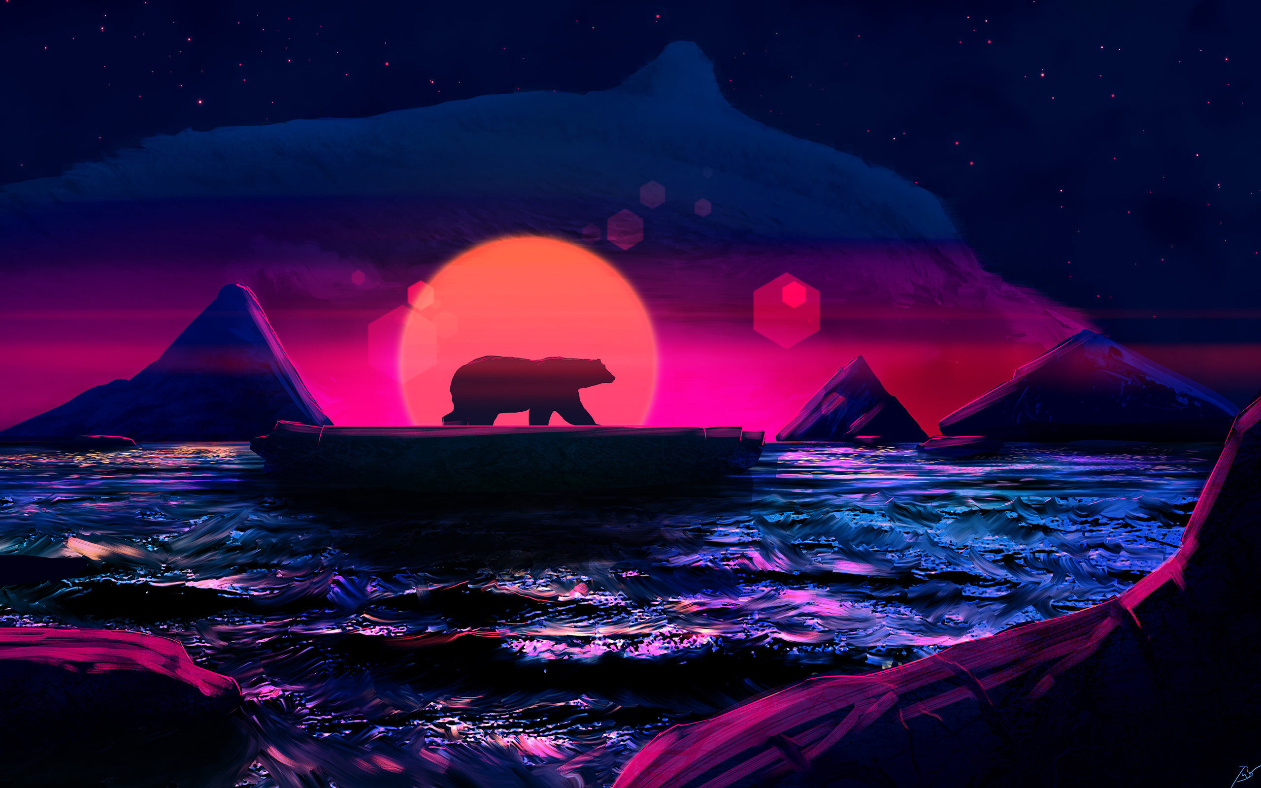 Bear Soul Of The Arctic Mh Wallpaper 2560x1600 resolution