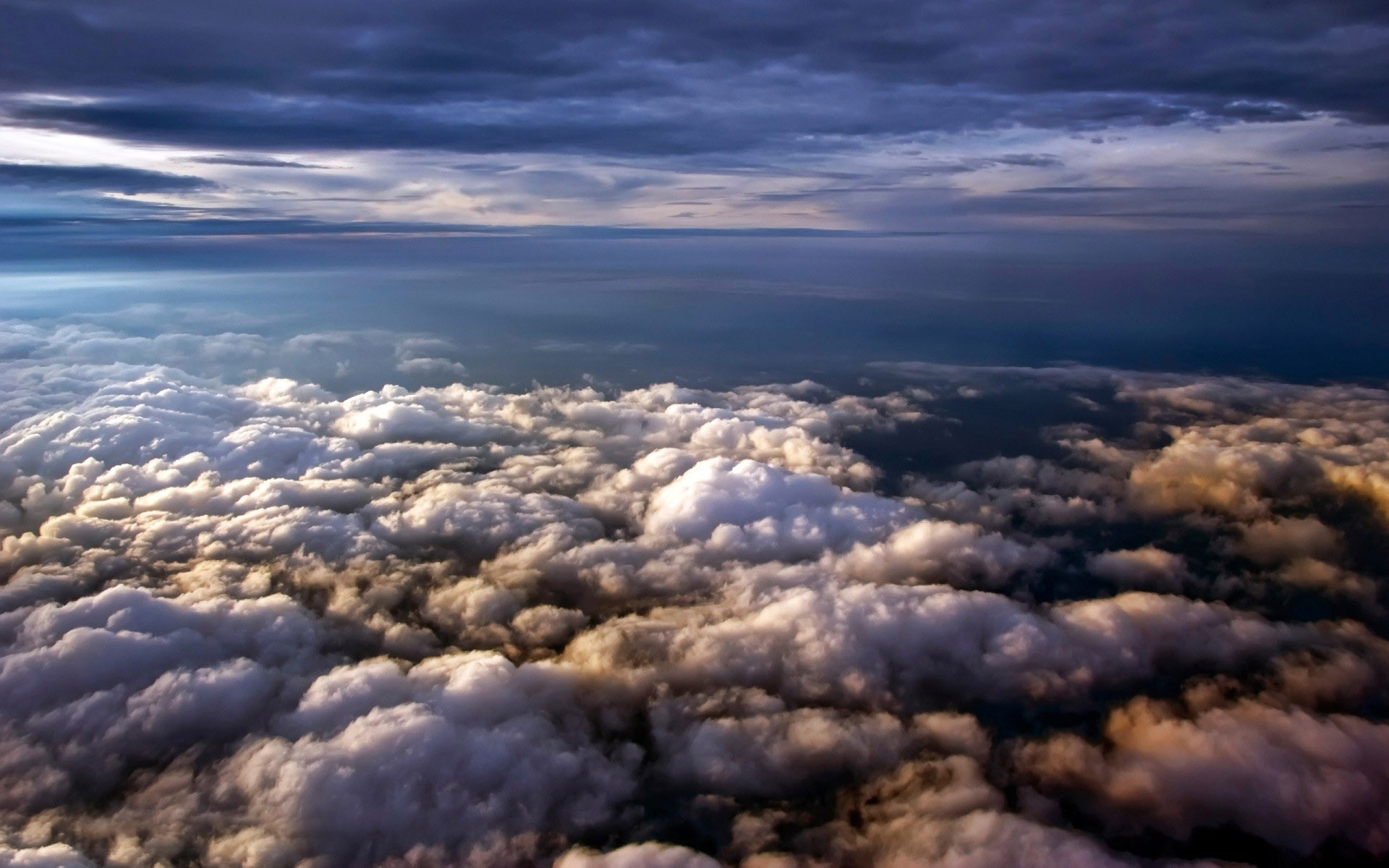 Download Clouds Seen From Above Wallpaper