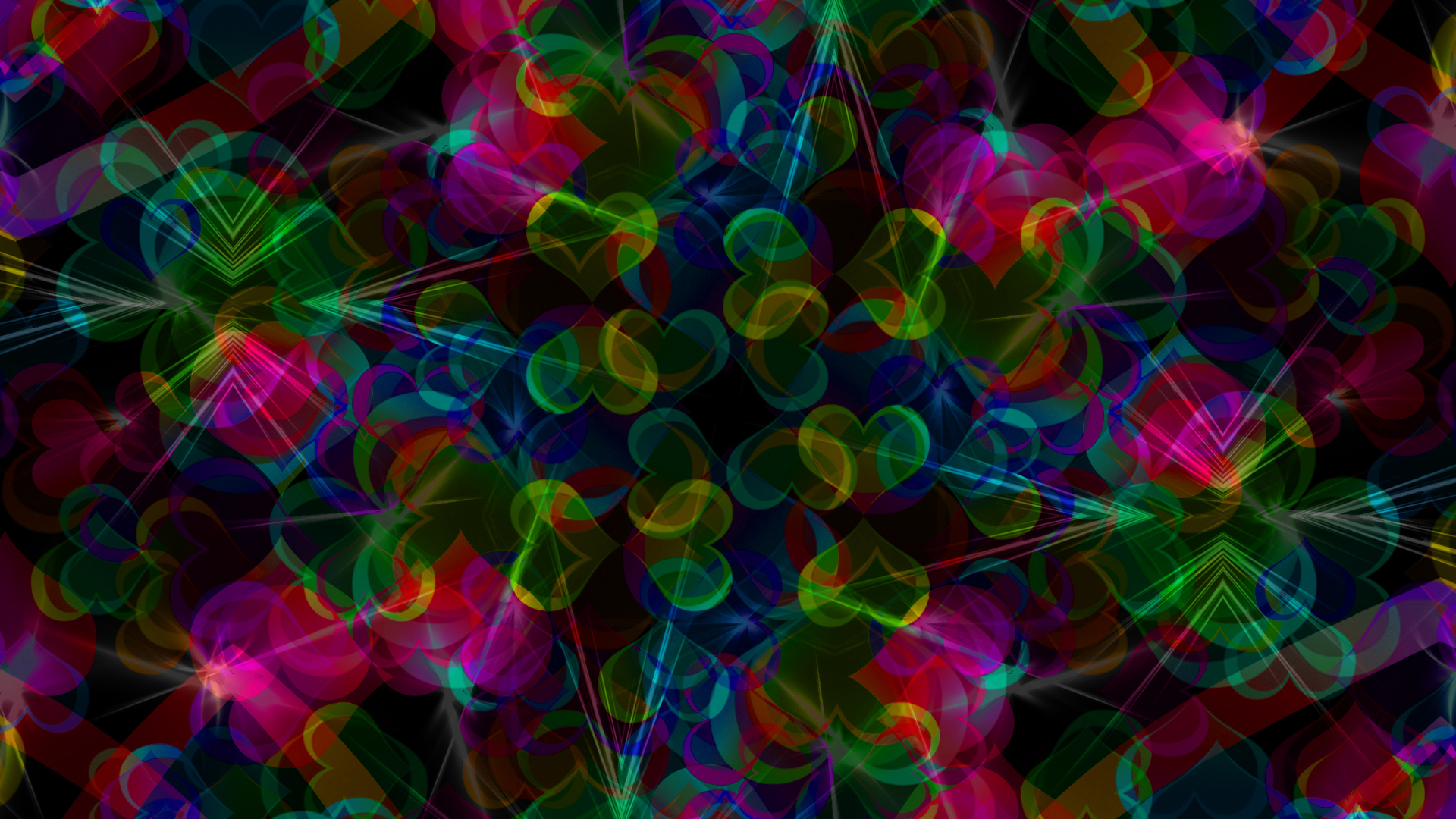 Abstract-02/Colorful Pink Green Blue Red Gradient Heart HD.jpg Desktop