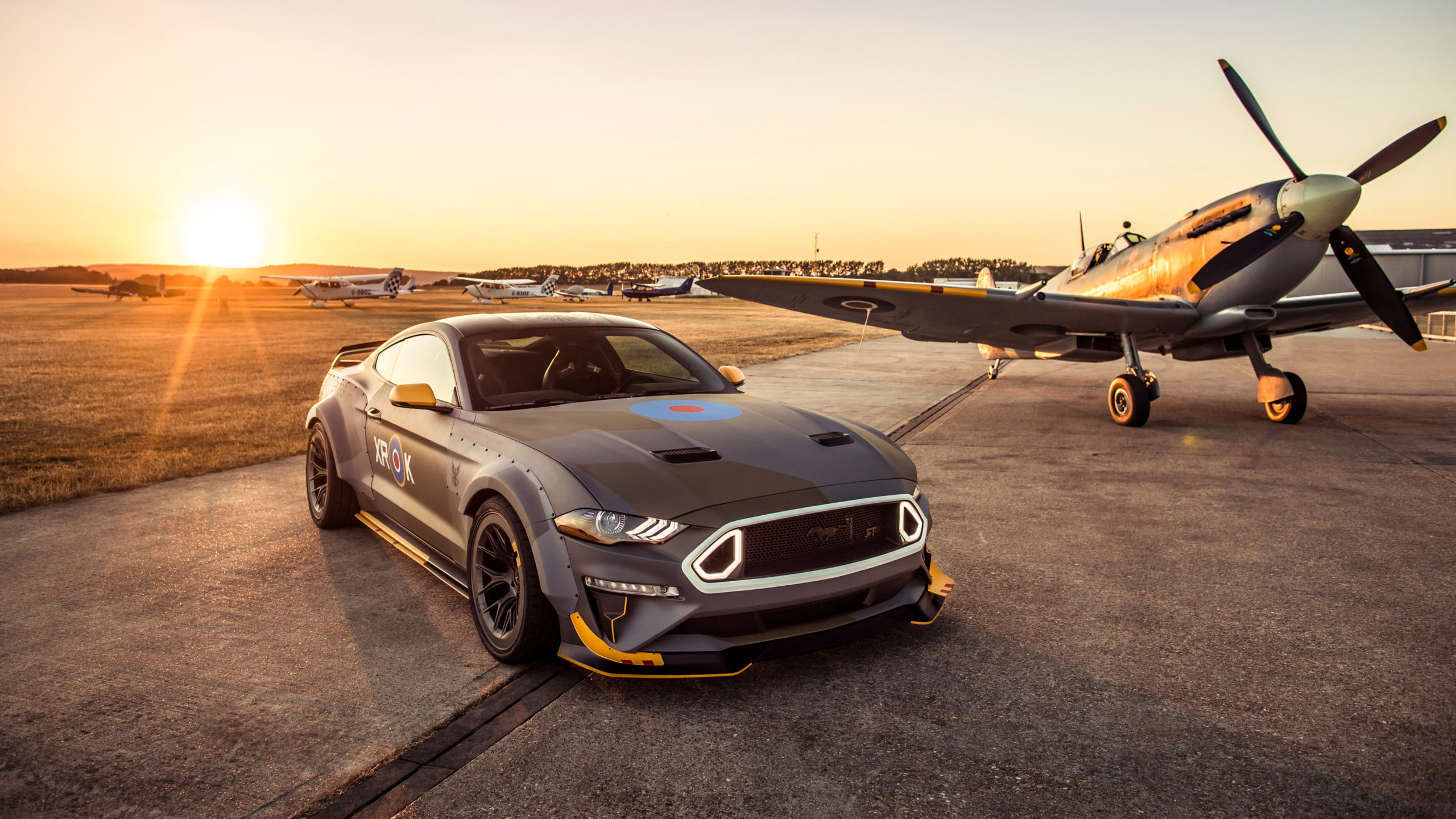 Download Ford Eagle Squadron Mustang GT 2018 4K