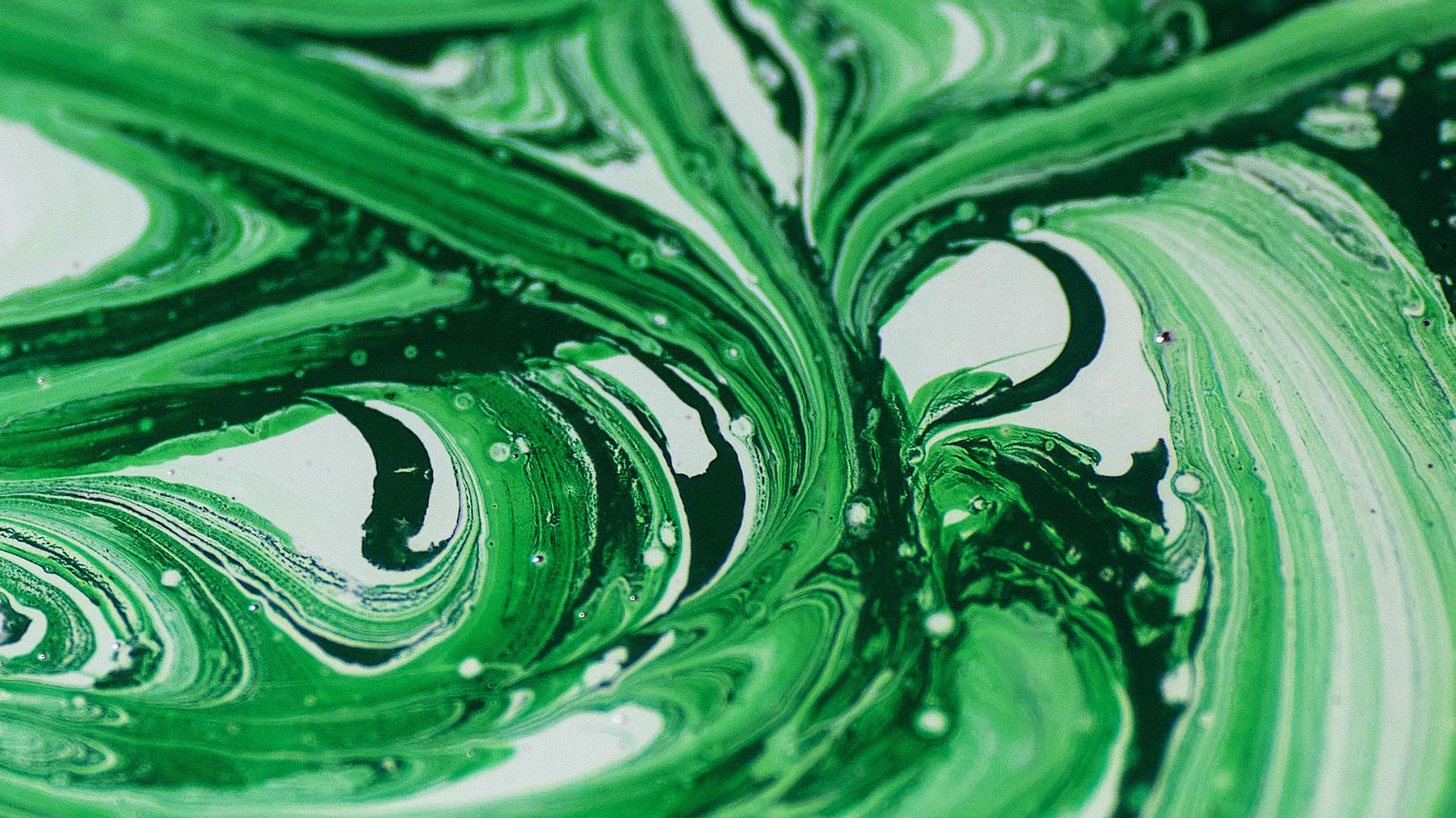 Abstract-02/Green Paint Stains Mixing HD.jpg Desktop