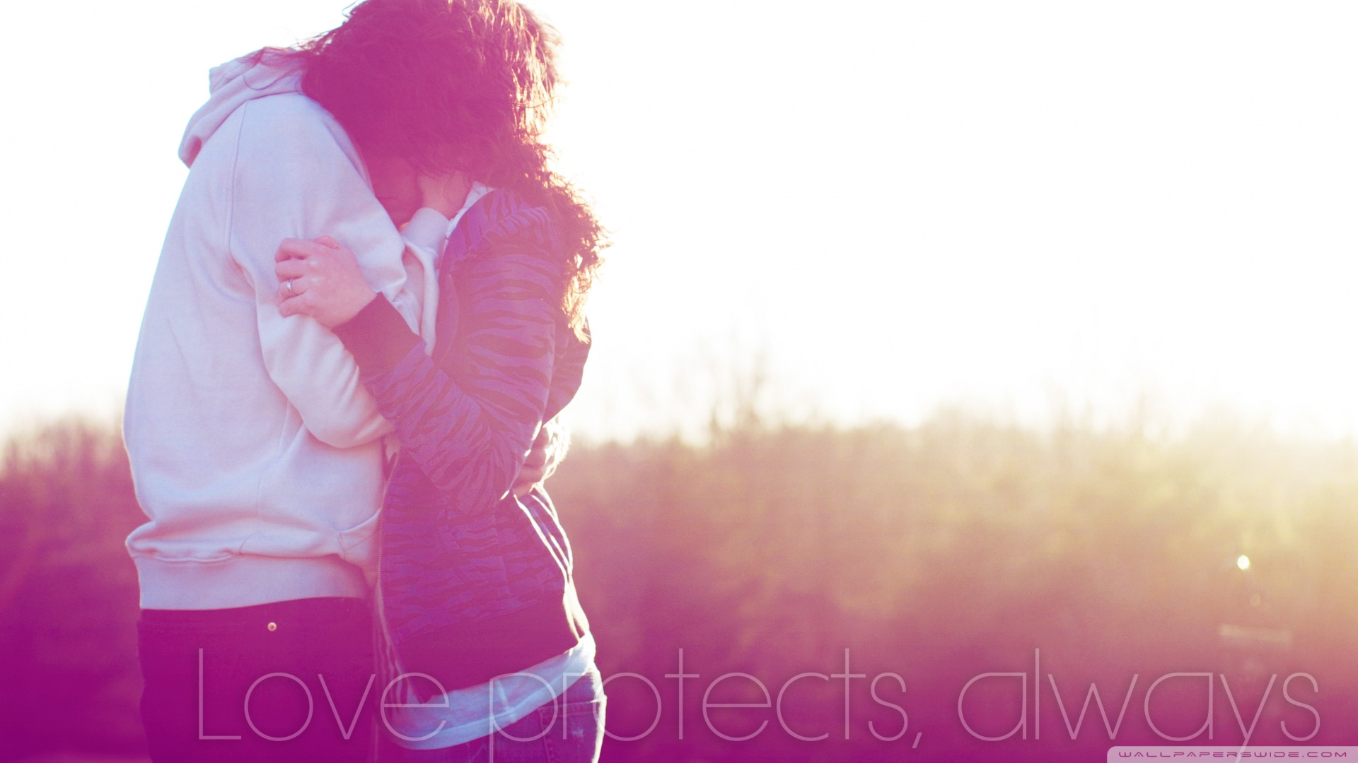 Love Protects Wallpaper 1920×1080