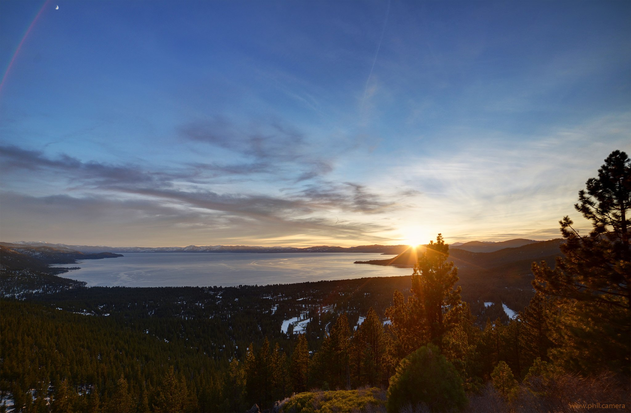 Download Magic Light During Sunset Yesterday Over Lake Tahoe Looking South  Wallpaper