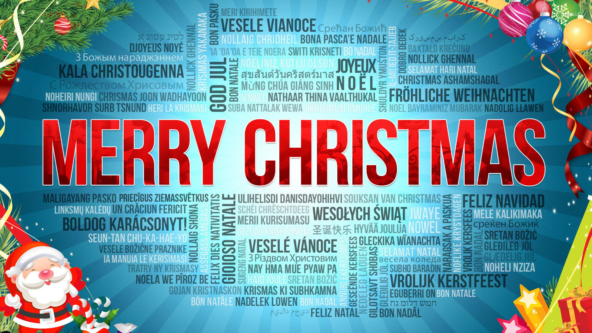 Merry Christmas In Many Languages 50786 1920×1080 Wallpaper
