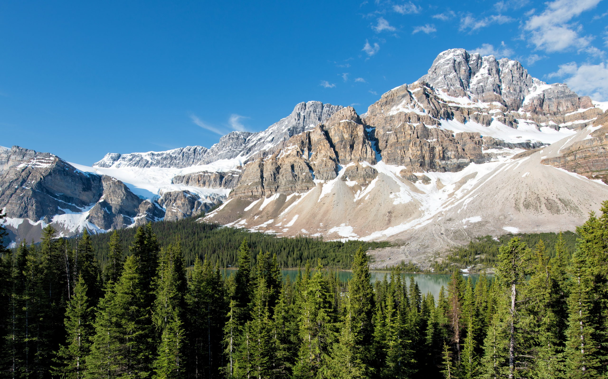 Parks Canada Mountains Scenery Banff Crag Nature Wallpaper