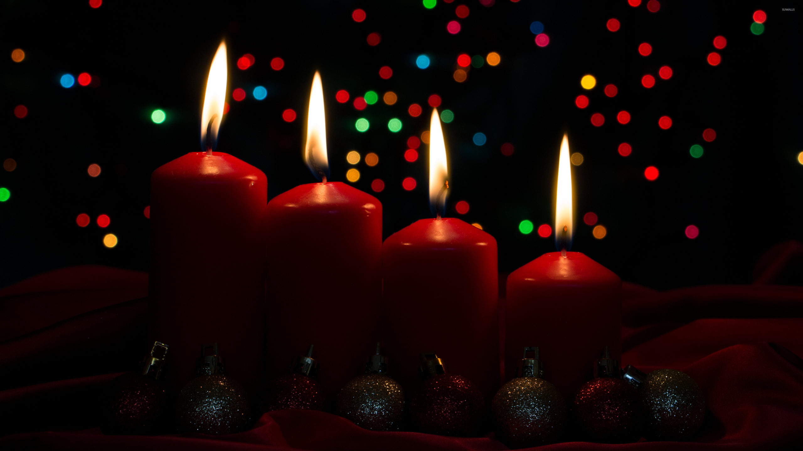 Red Advent Candles 51577 3840×2160 Wallpaper