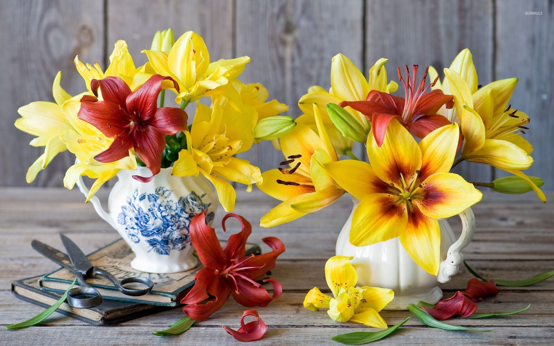 Red And Yellows Lilies 52536 1920×1200 Wallpaper