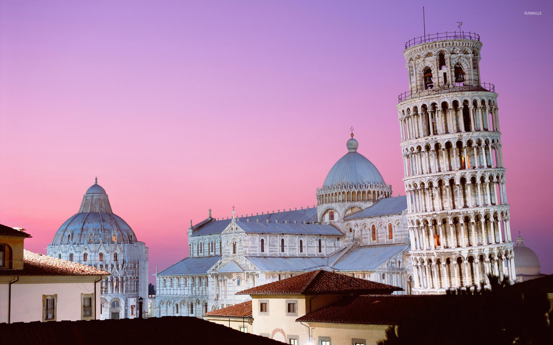 The Leaning Tower Of Pisa And The Pisa Cathedral 3559 1920×1200 Wallpaper
