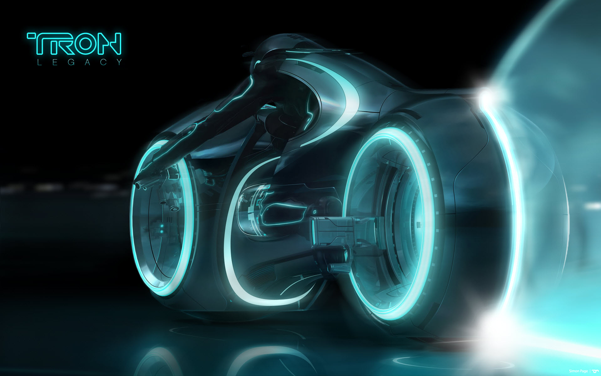 Tron Legacy Light Cycle Wide Wallpaper