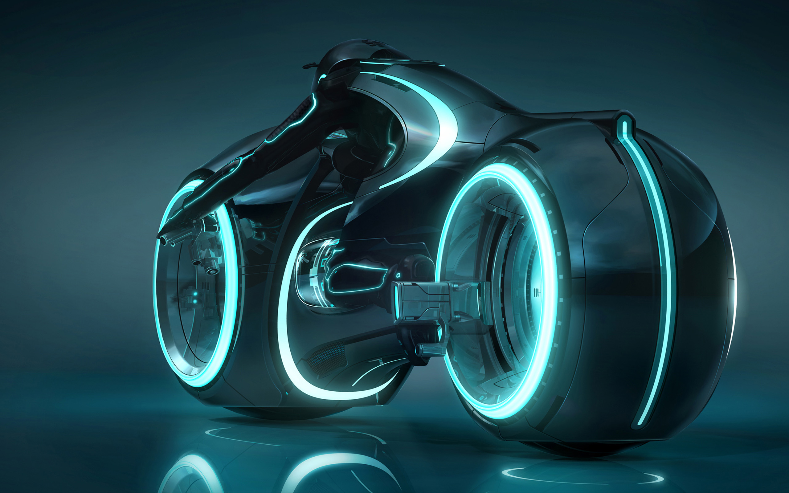 Tron Light Cycle Wide Wallpaper