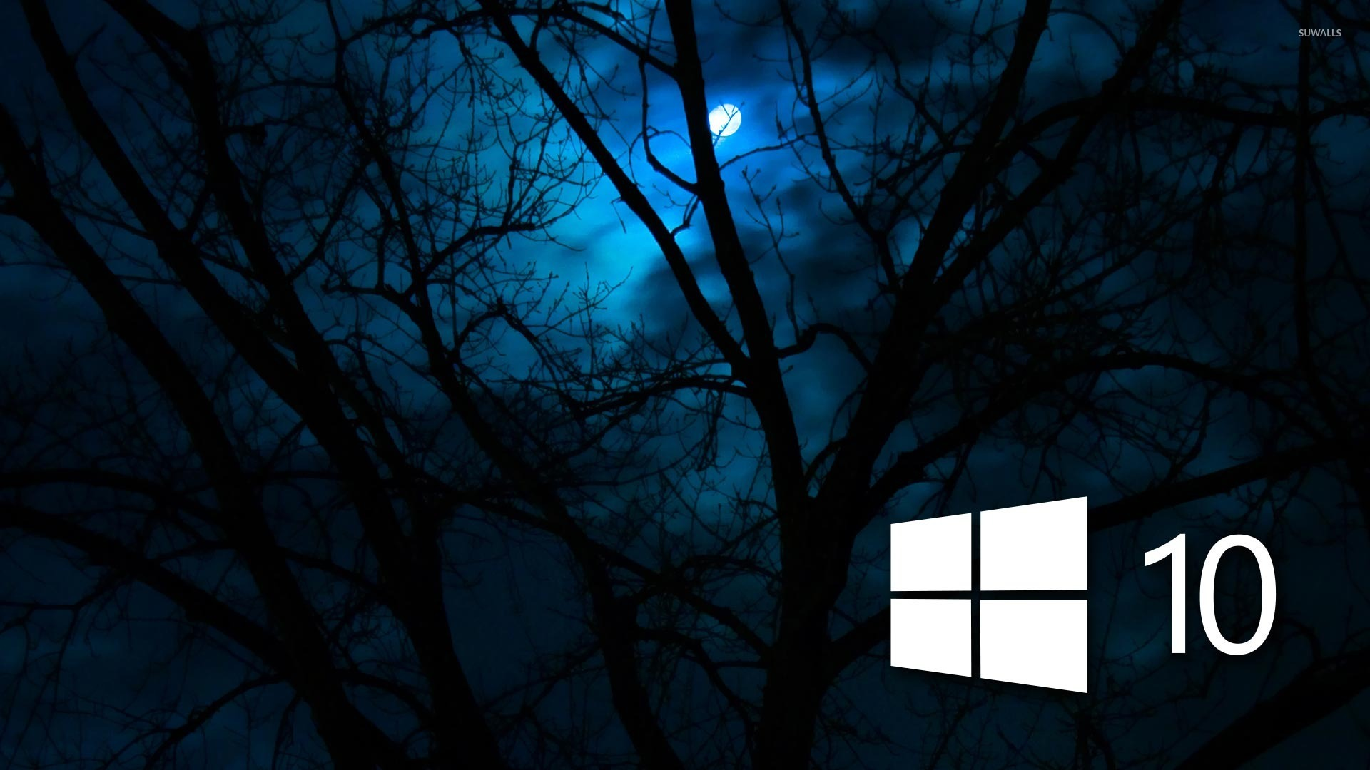 Windows 10 In The Cloudy Night 48231 1920×1080 Wallpaper