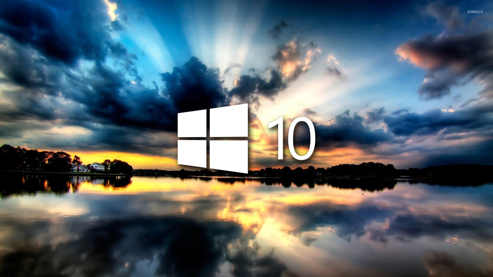 Windows 10 On The Reflected Clouds 48046 1920×1080 Wallpaper