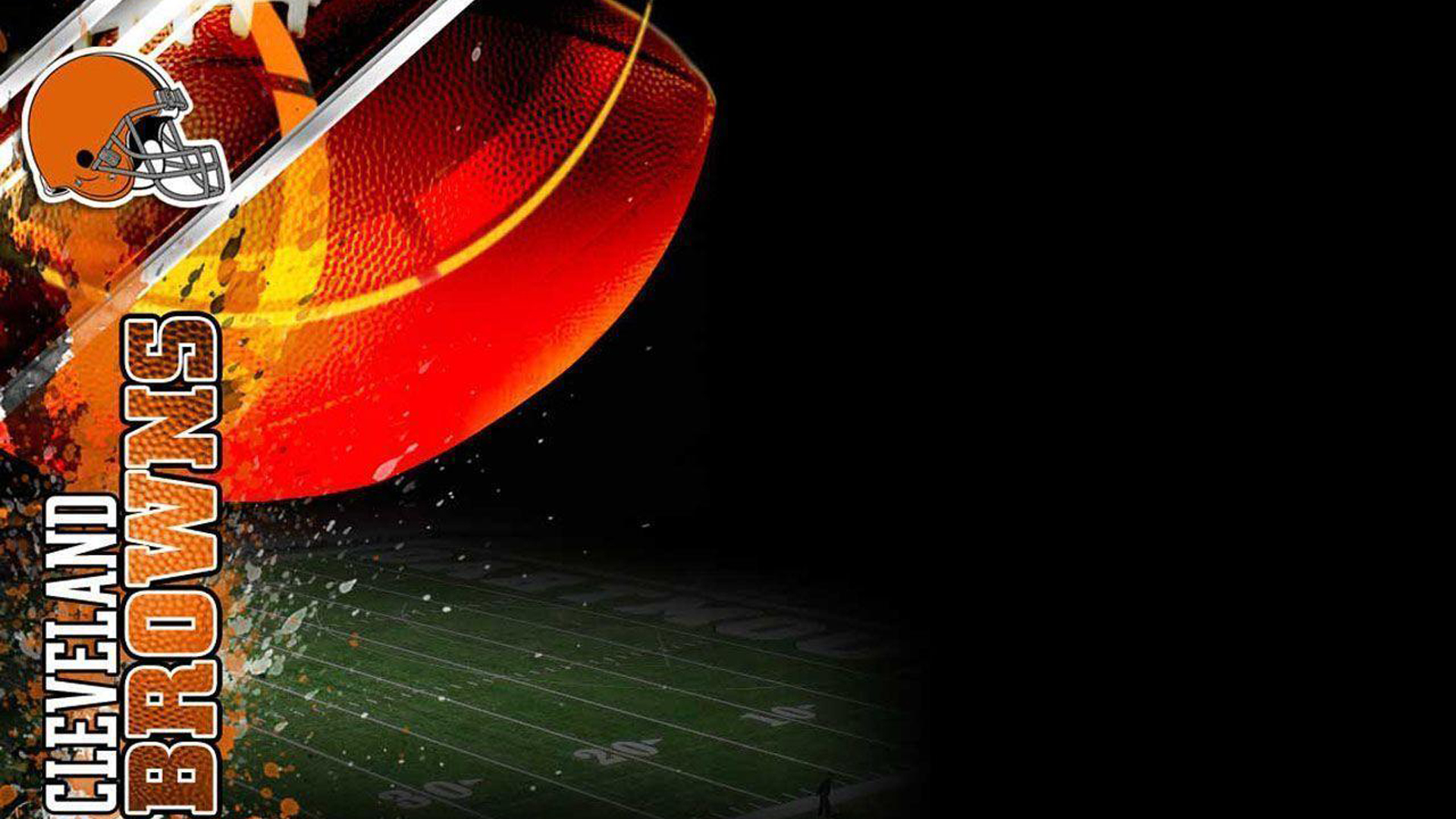 Download American Football Cleveland Browns Helmet Ball And Ground On Side Hd Cleveland Browns