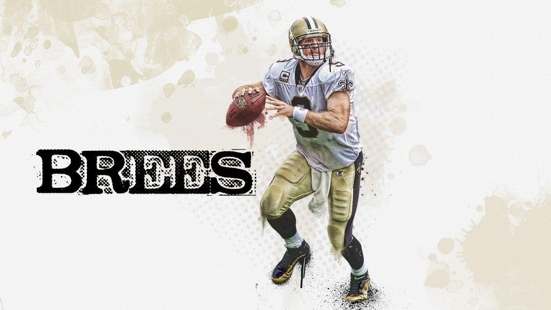 Download Drew Brees With Ball Hd Drew Brees