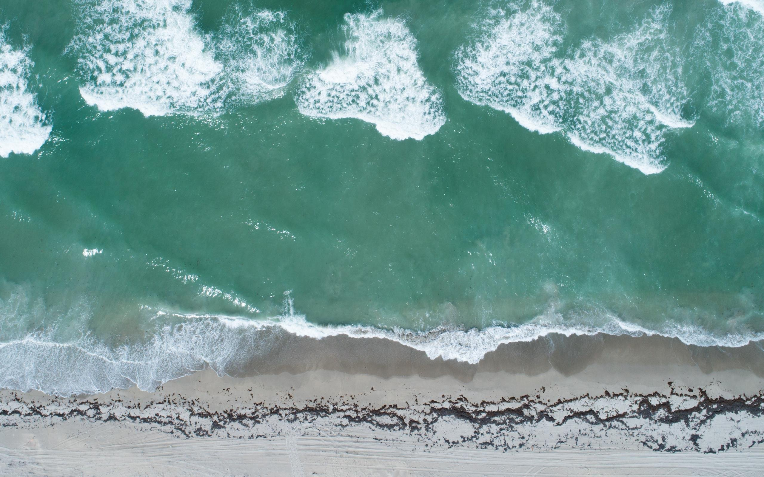Download Florida Beach From Above Wallpaper