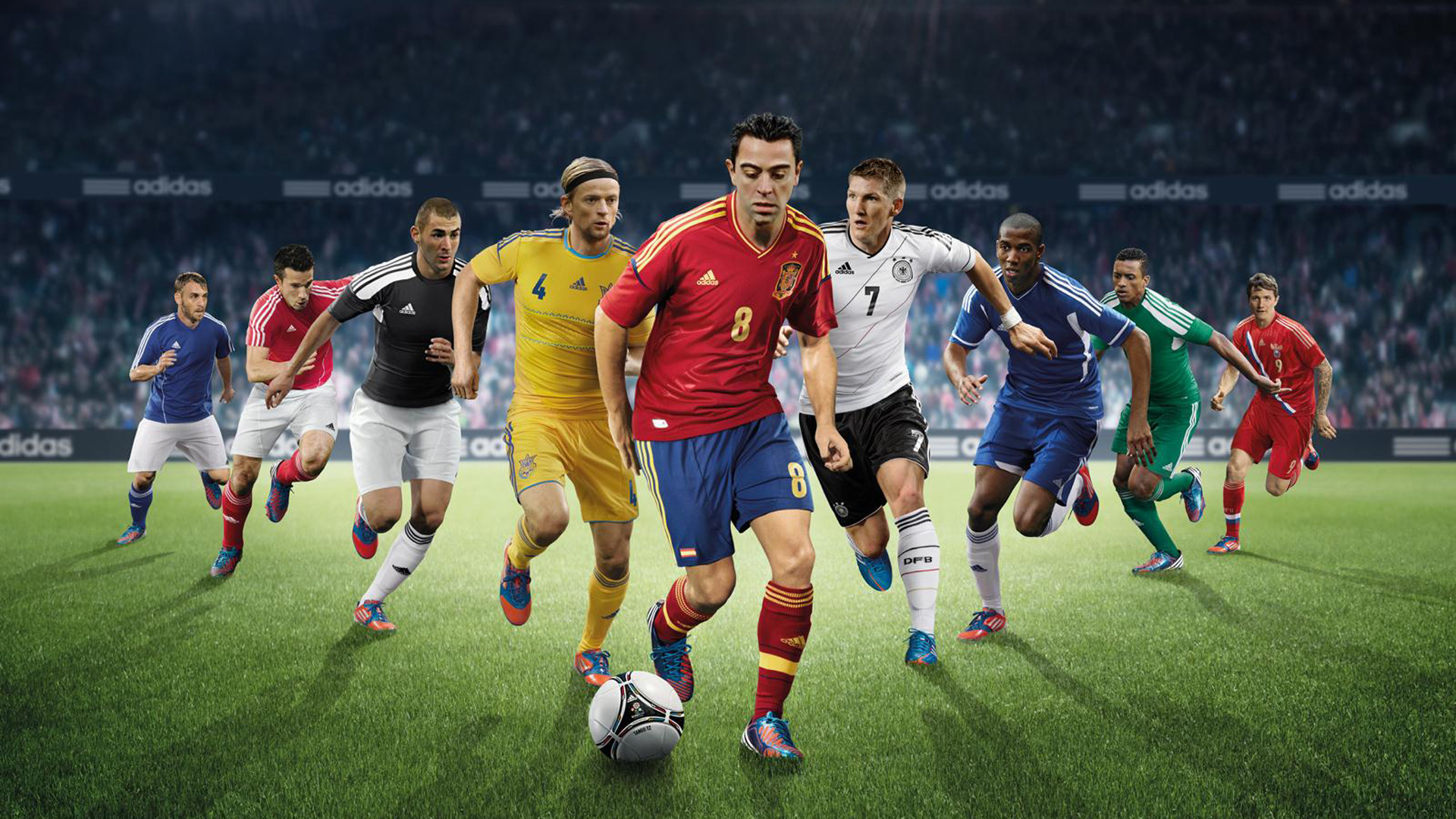 Download Football Players Are Trying To Hit A Ball Hd Football