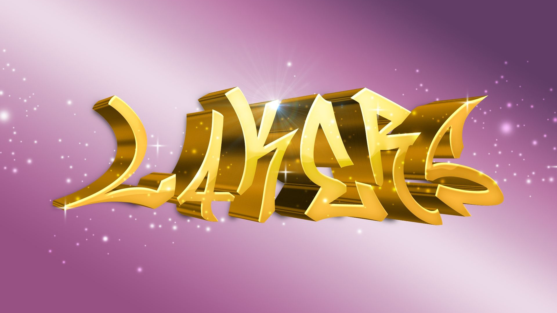 Download Golden Lakers Word In Pink Background Hd Lakers