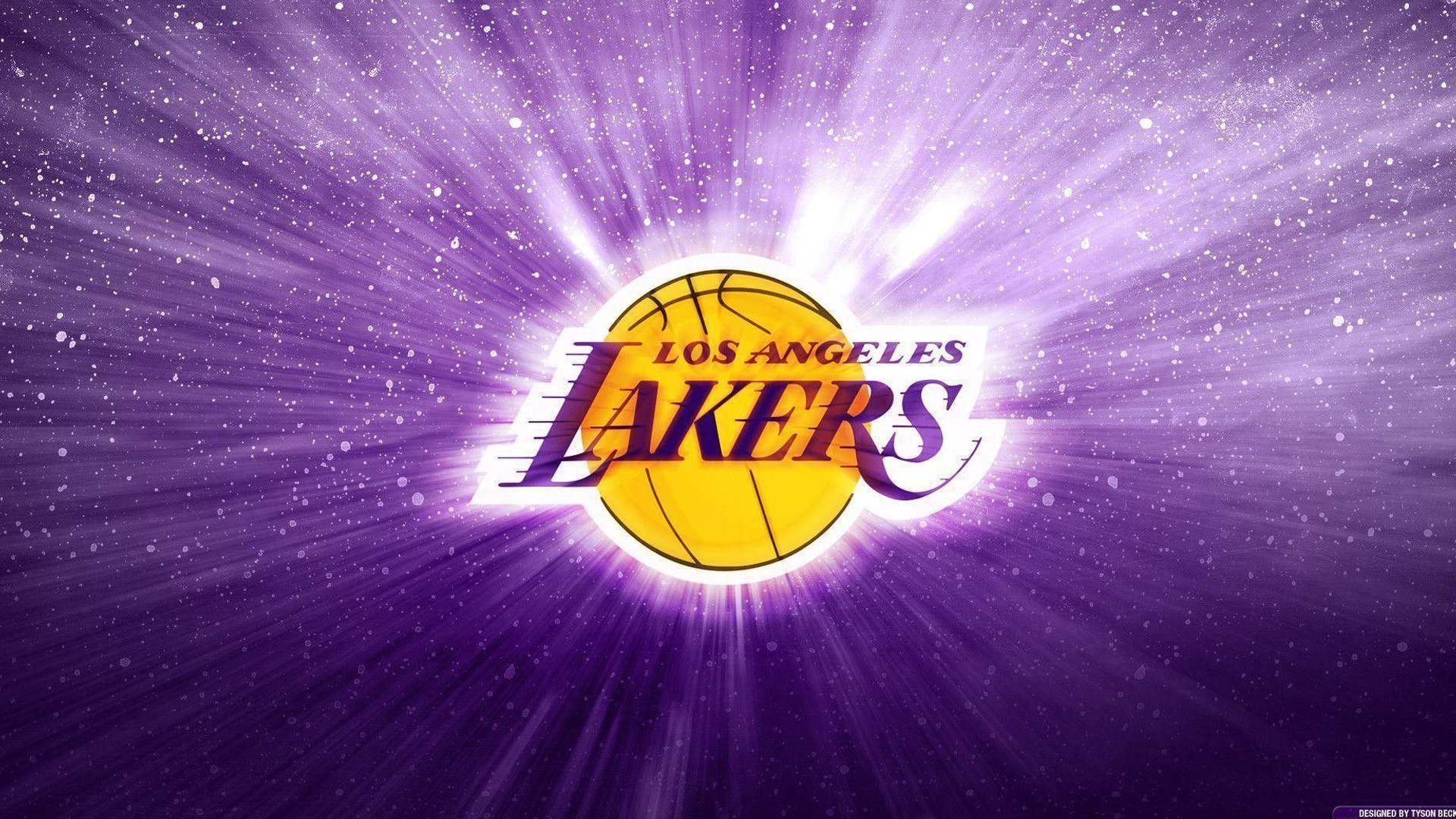 Download Lakers Log In Sparkling Purple Background Basketball Hd Sports