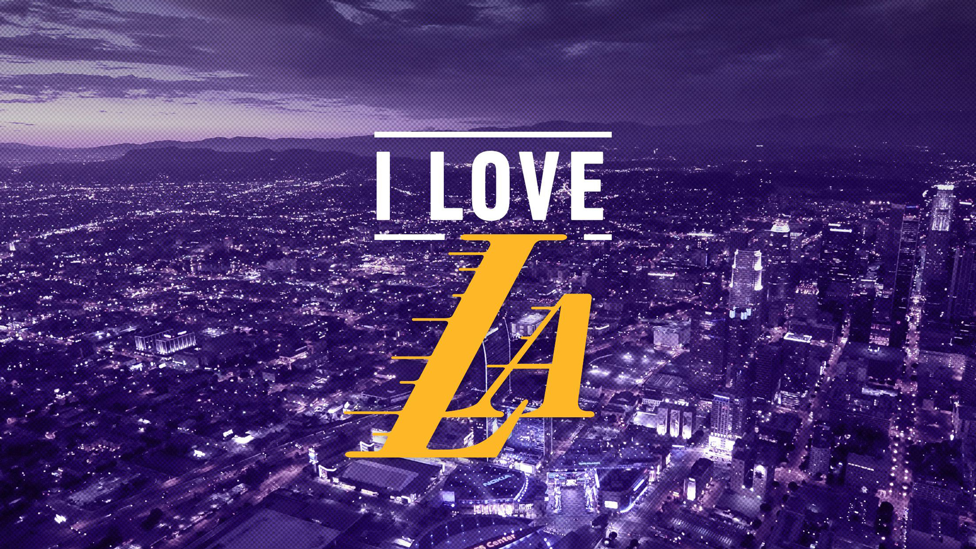Download Lakers Logo In Purple City Background Basketball Hd Sports