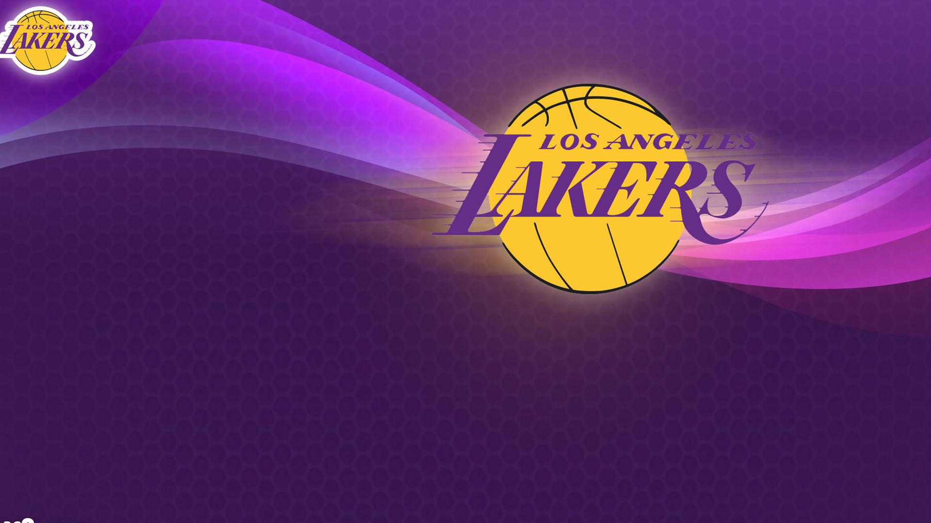 Download Los Angeles Lakers Logo In Purple Background Hd Lakers
