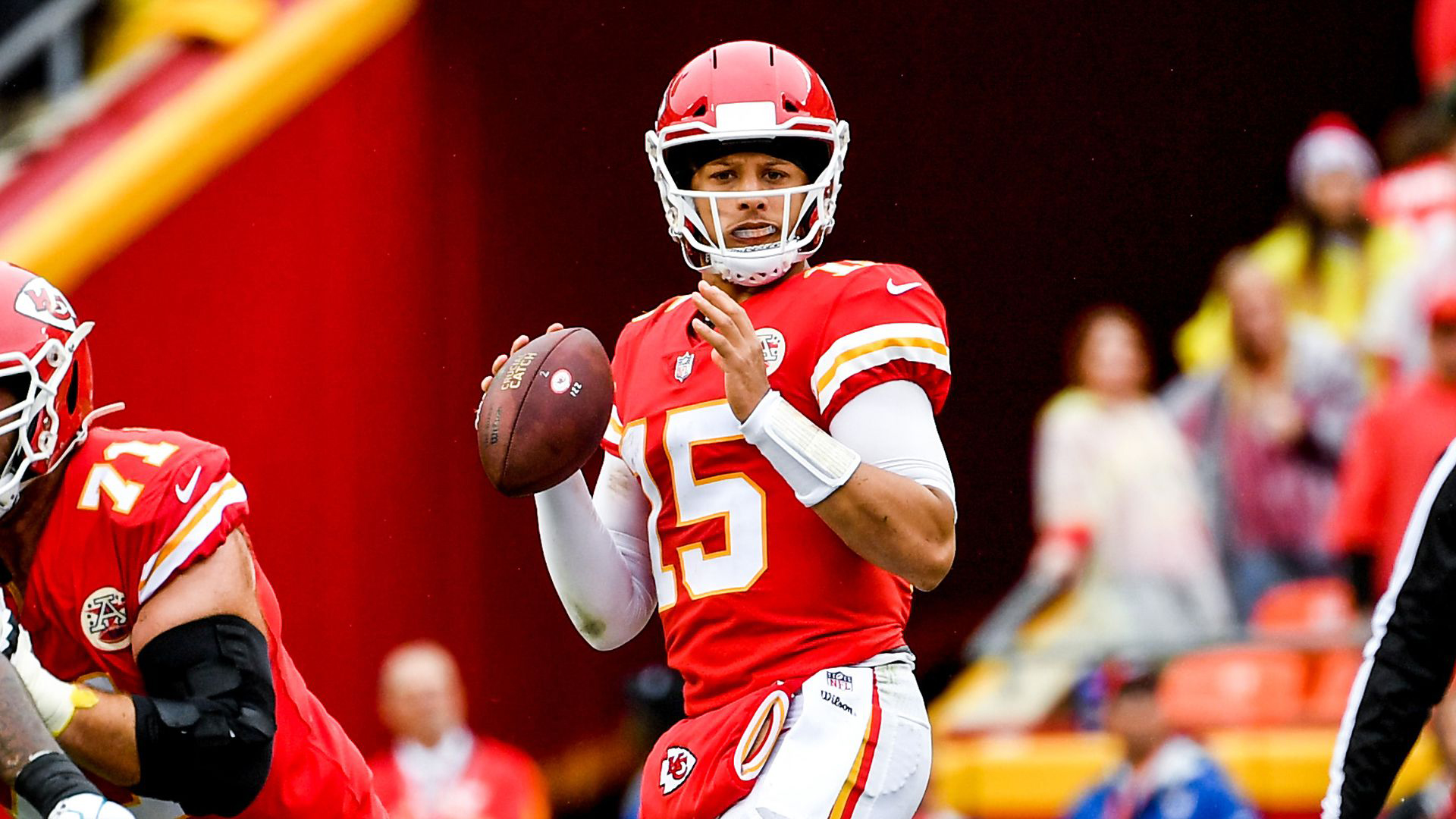 Download Patrick Mahomes In Red Sports Dress Hd Sports Hd