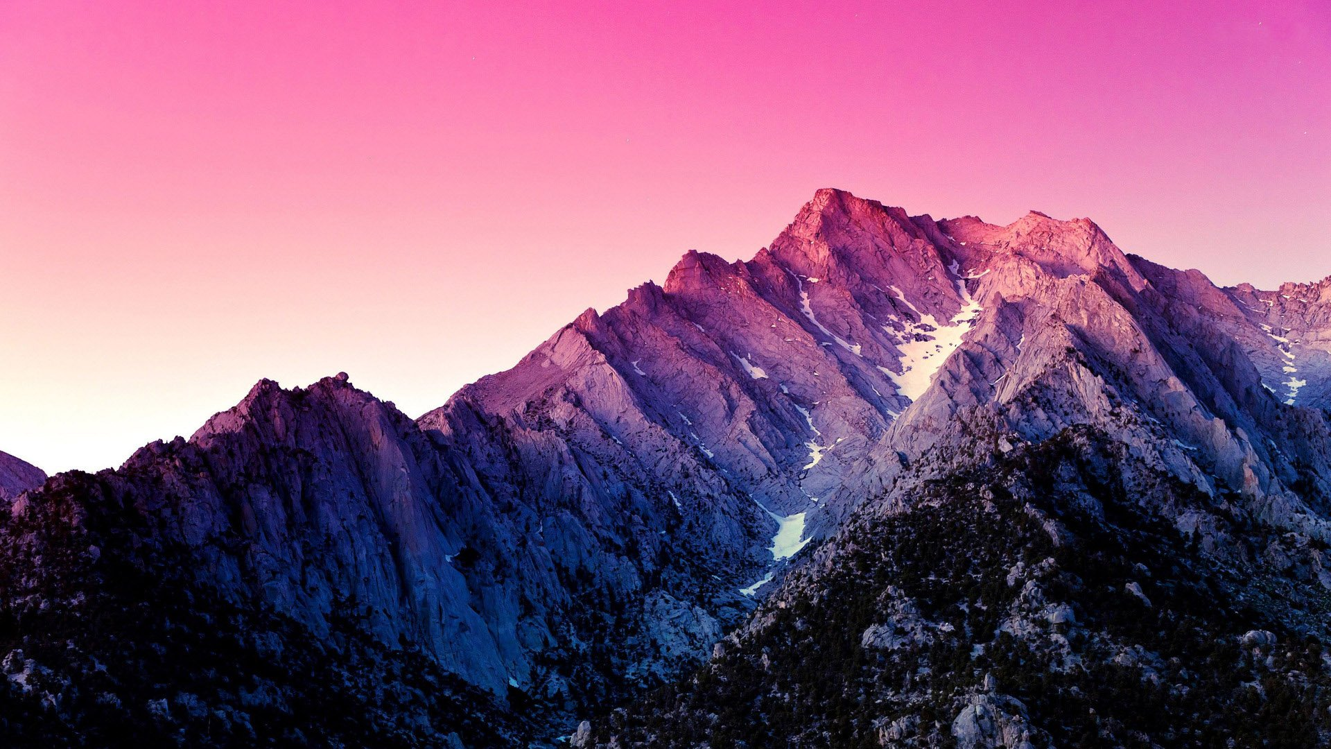 Download Pink Sky Above The Mountains