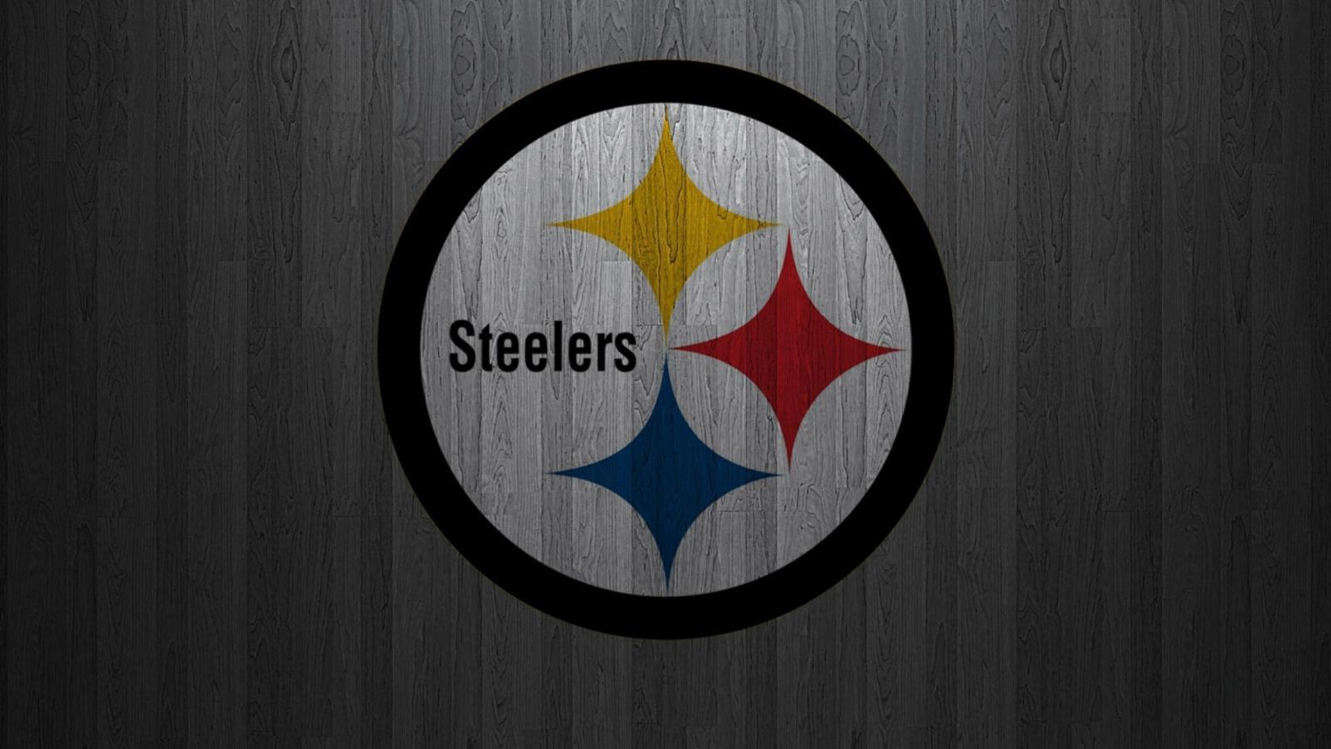 Download Pittsburgh Steelers On Black Circle With Gray Background Hd Steelers