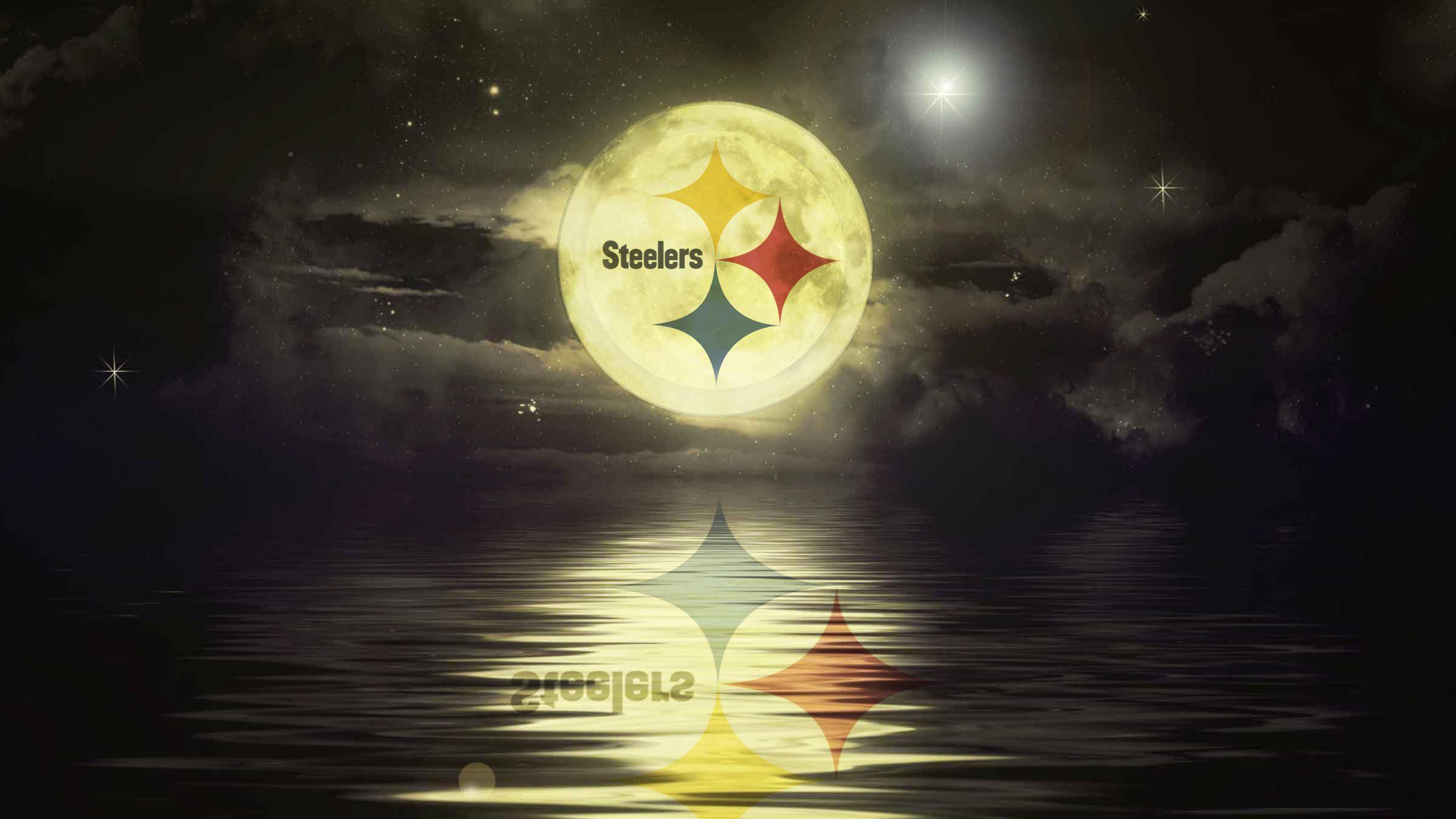 Download Pittsburgh Steelers With Background Of Cloudy Sky With Stars At Night Hd Steelers