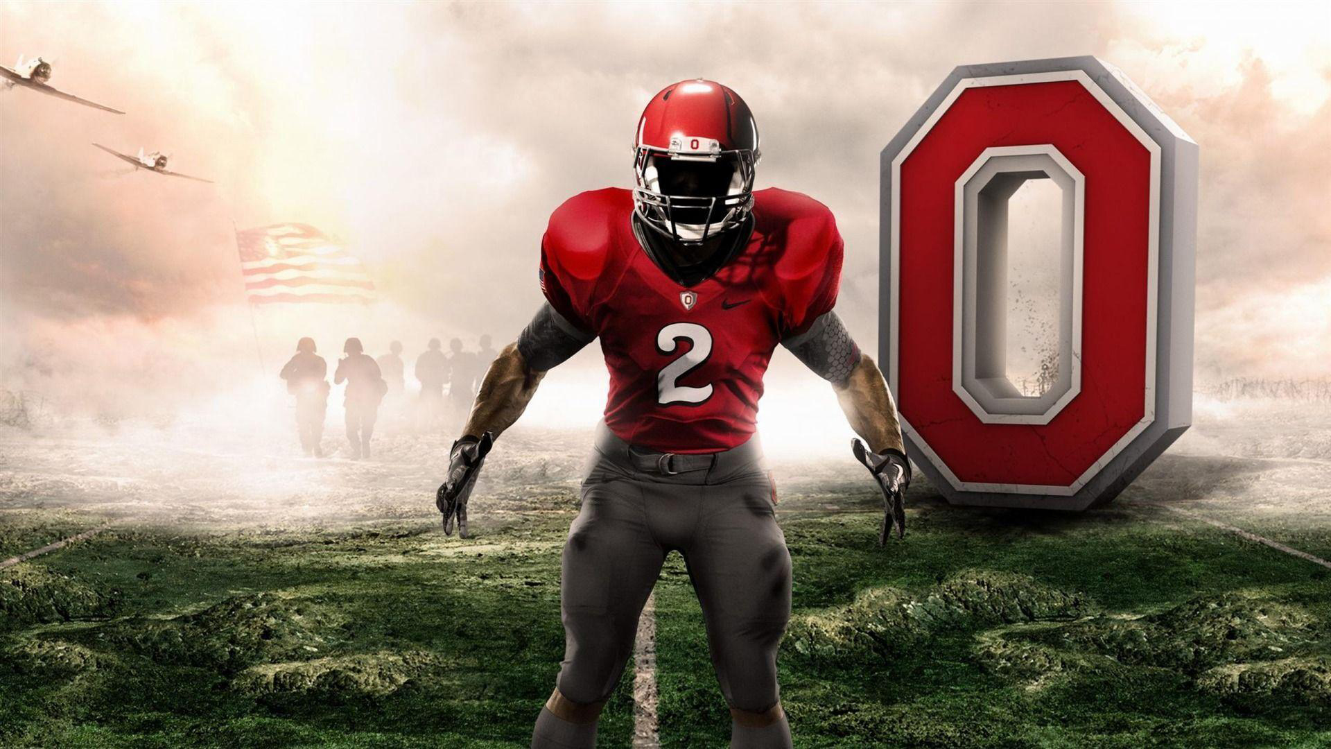 Download Player On Green Grass Hd Ohio State