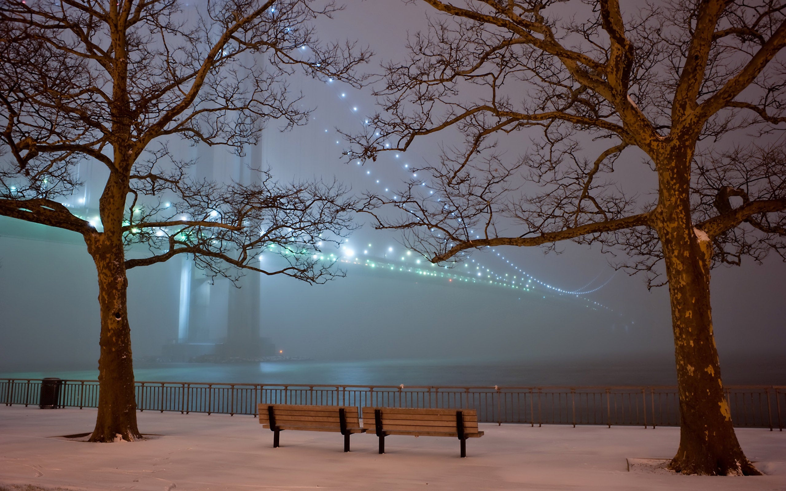 Download Snow In The Park Wallpaper