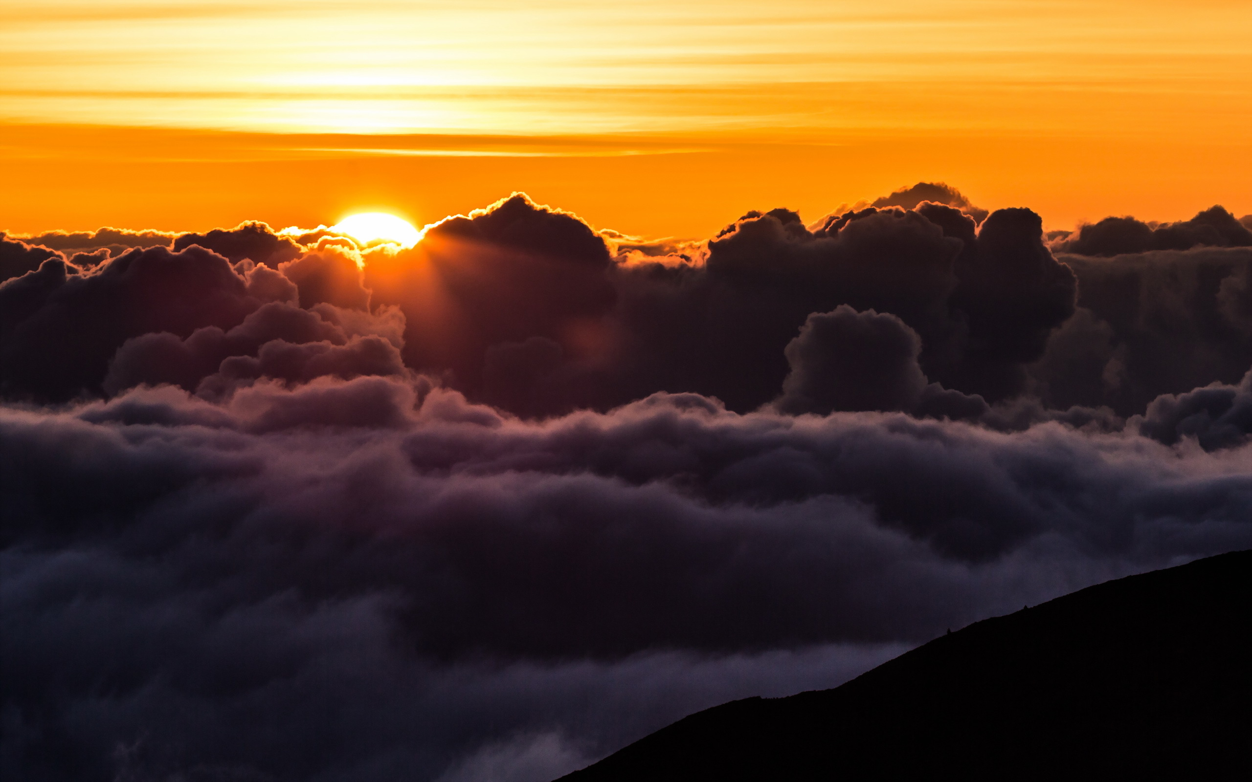 Download Sunset Seen Trough Clouds