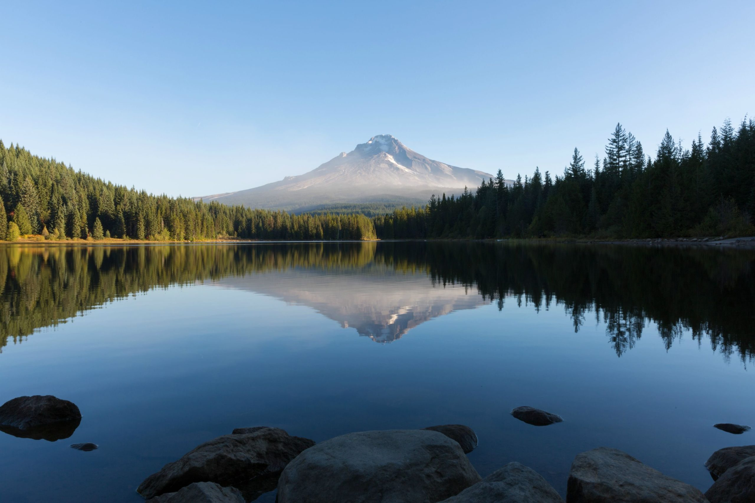 Download Thought I Would Contribute To The Oregon Love That Has Been On Here Recentlymthood From Trillium Lake Just After Sunrise Yesterday Morning  Wallpaper
