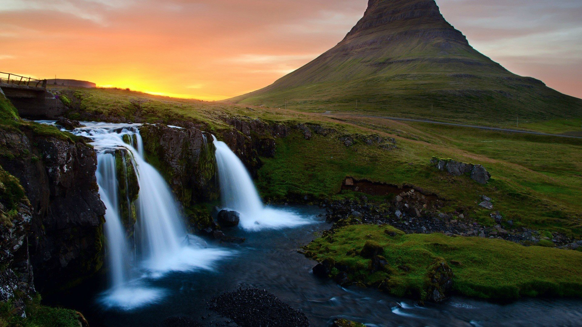 Download Waterfall In Mountains